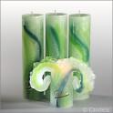 Lotus Aquarell Grün 28cm